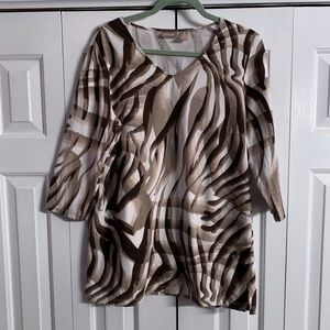Chico's top in animal print